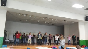 Students Practice for Christmas program